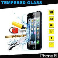 Переднее защитное стекло на iPhone 5, 5S .