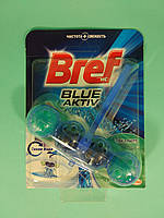 Туалетные блоки для унитаза Сила Актив (Эвкалипт + Синяя вода) 50гр - Bref