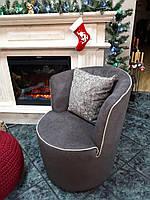 Круглое кресло DAFNE фабрика LeComfort, цвет коричневый с бежевым кантом (Италия)