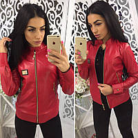 Женская клегкая куртка из кожзама в разных цветах tez410118