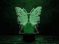 "3D Светильник ""Бабочка"" 3DTOYSLAMP, фото 1"