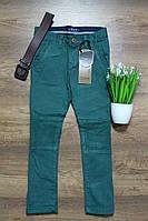 Котоновые штаны на мальчика зеленые,на рост от 116 до 146см