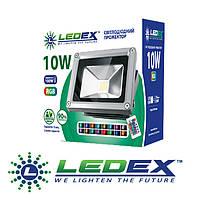 Прожектор LEDEX 10W sensor, 800lm, 6500К холодный белый, 120º, IP65
