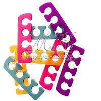 Силиконовый, многоразовый сепаратор (разделитель пальцев) для педикюра, 2 шт