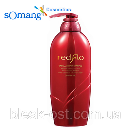 Шампунь для волос Somang Redflo Camellia Hair Shampoo, фото 2