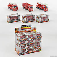 Пожарная машина металлопластик 2008 (288) /ЦЕНА ЗА 1ШТ/ 36шт в блоке