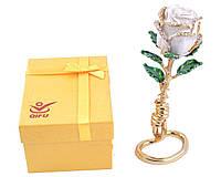 Шкатулка ювелирная Белая Роза