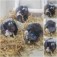 """Барашек """"Гарного настрою"""", авторская игрушка к пасхальным праздникам, 12х9 см., 90/65 (цена за 1 шт. + 25 гр.)"""