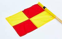 Флаг угловой (полотно) с клипсой для крепления к штанге  (р-р 45x38см, полиэстер)