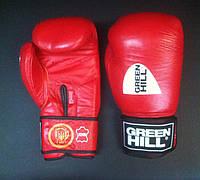 """Перчатки боксерские """"KNOCK"""" 12 унций красные Green Hill лицензированные Федерацией бокса Украины"""