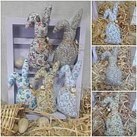 Пасхальный кролик для декора, ручная работа, выс. 16-17 см., 50/39 (цена за 1 шт. + 11 гр.)
