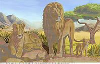 Схема для бисера А1 Львиное царство