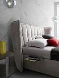 Итальянская современная кровать в ткани ASPEN фабрика LeComfort, фото 7