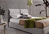 Итальянская современная кровать в ткани ACADEMY фабрика LeComfort, фото 4