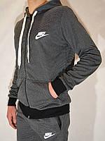 Мужской спортивный костюм Nike (размеры 44-52, темно-серый)