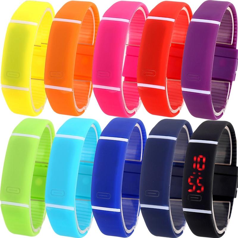 №1 Спортивные силиконовые водонепроницаемые наручные LED часы - браслет 2 в 1, Унисекс  - ***PaVelo*** в Запорожской области