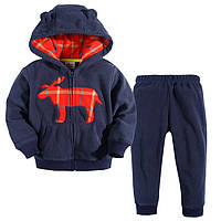 Флисовый комплект для мальчика 2 в 1 Deer Blue Jumping Beans
