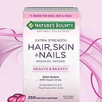 Витамины для волос, кожи и ногтей, Hair, Skin & Nails, Nature's Bounty