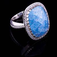 Женское кольцо с фианитами (родий)