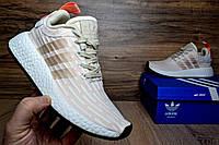 Женские кроссовки Adidas NMD R2  пудра