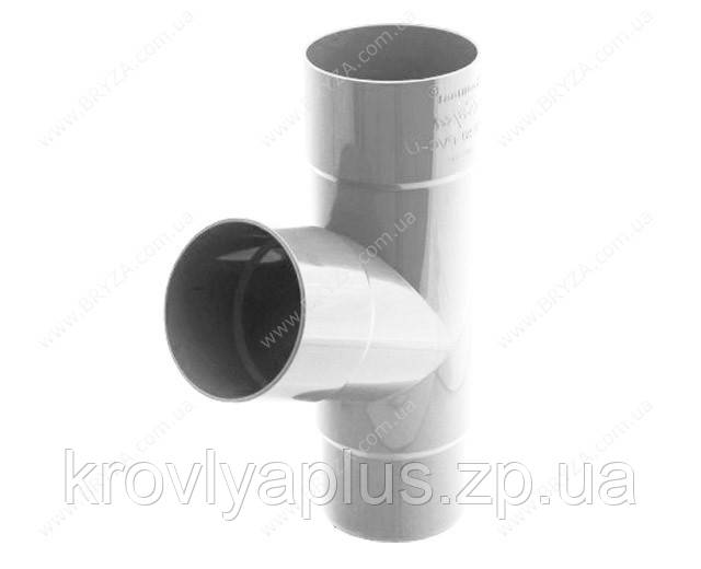Водосточная система BRYZA 125 Тройник трубы белый 90