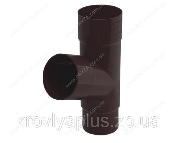 Водосточная сисиема BRYZA 125 Тройник трубы коричневый 90, фото 2