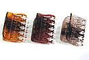 Краб для волос пластик  L 6 см коричневый 12 шт/уп , фото 2