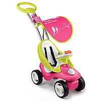 Smoby Машинка-каталка с ручкой 2 в 1 Розовая Bubble Go PinkGreen 720102