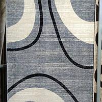 Ковёр Daffi абстракция светло-серые волны 1.60х2.30 м.