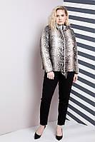 Двухсторонняя женская куртка на весну-осень больших размеров 48-64р