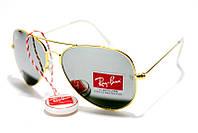 Солнцезащитные очки Рей Бен Aviator Стекло 3025 B12 SM (реплика)