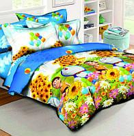 Детское постельное белье в кроватку Котофей, ранфорс