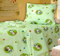 Детское постельное белье в кроватку Пуговка сал., бязь белорусская 100%хлопок
