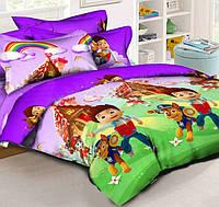 Детское постельное белье в кроватку Щенячий патруль, ранфорс