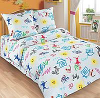 Детское постельное белье в кроватку Переменка, поплин 100%хлопок