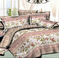 Семейное постельное белье с простыней на резинке 180*200*34, Валери, ранфорс