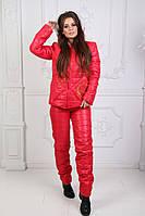 Зимний женский костюм на меху / тёплый лыжный костюм на овчине, фото 1