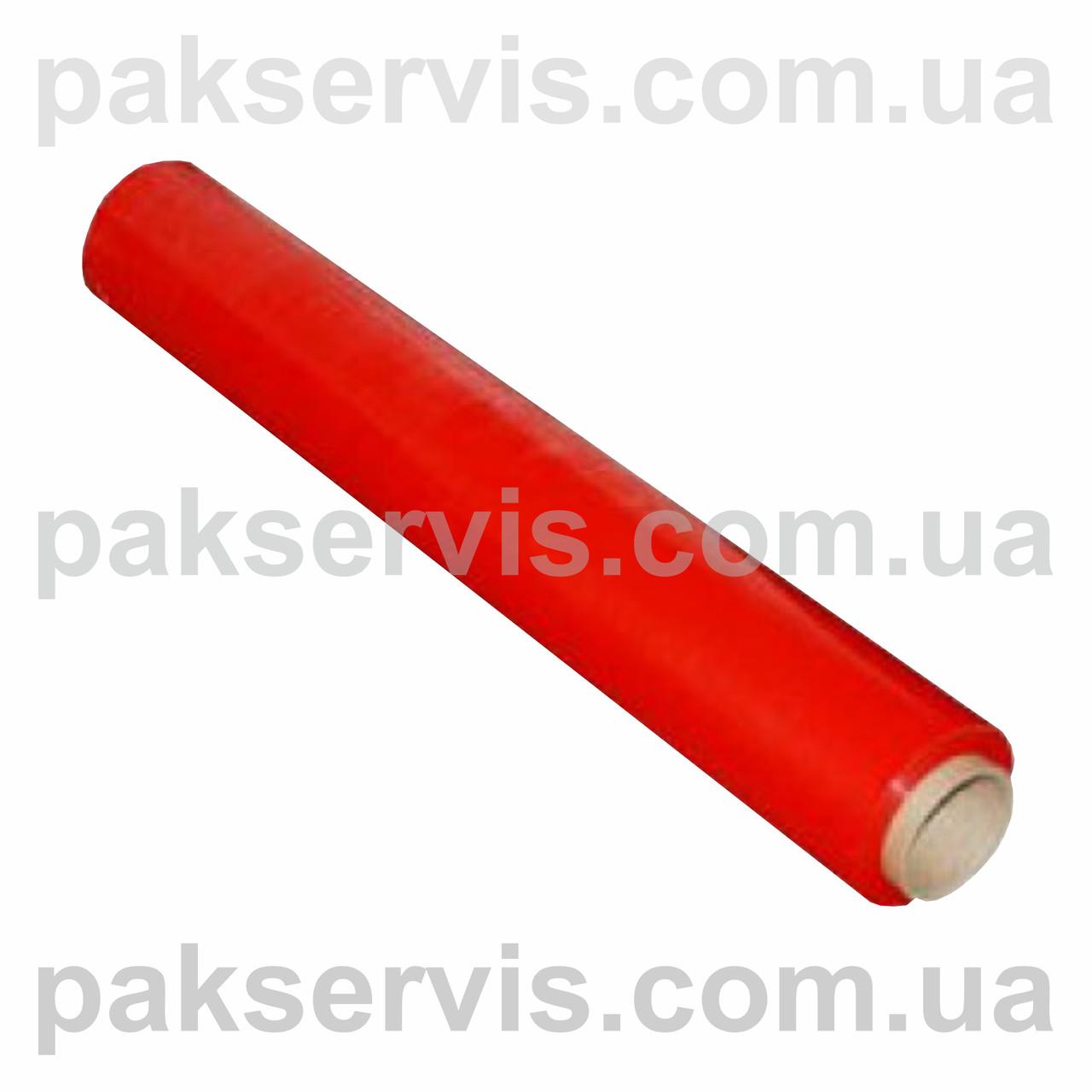 Пленка стрейч паллетная красная(не прозрачная) 50см/200м Польша (20мкн)