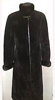 Стильная строгая шуба- пальто из мутона с норкой Италия. Комиссионка