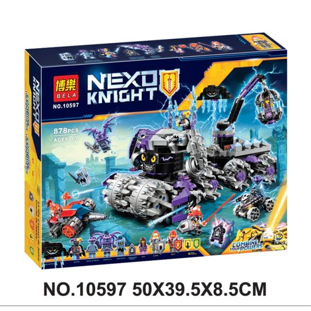 Конструктор Bela 10597 Nexo Knights Нексо Найтс Штаб Джестро 878 дет