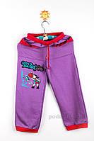 Штаны трикотажные для девочки Niso Baby TR102КФ фиолетовые 98