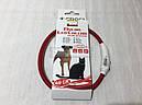 Светящийся ошейник Croci Led Nylon USB 40 см красный для собак, фото 3