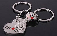 """Парные брелки для влюбленных """"Ключи от сердца""""."""