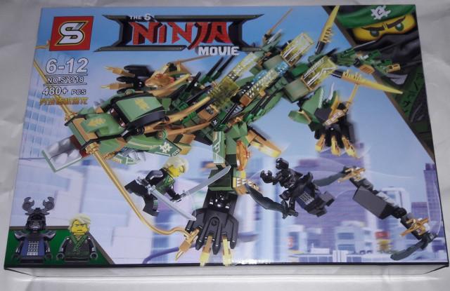 Конструктор SY 918 Ninja Ниндзя Ninjago Ниндзяго Дракон Зелёного Ниндзя 480 дет.