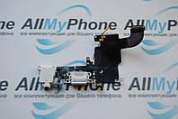 Шлейф для Apple iPhone 6S,коннектора зарядки,коннектора наушников,с микрофоном,с компонентами  белый