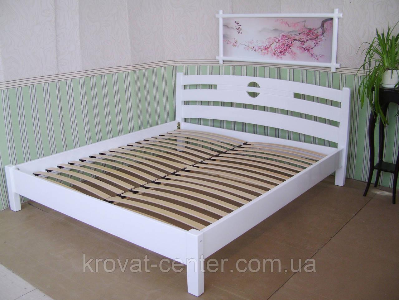 """Белая полуторная кровать """"Сакура"""""""