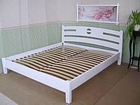 """Белая полуторная кровать из массива дерева """"Сакура"""""""