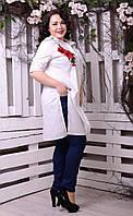 Рубашка-туника с вышивкой большого размера, с 48-82 размер, фото 1