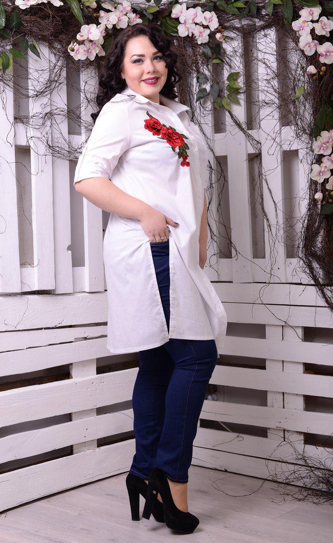 a7a69bcac196 Рубашка-туника с вышивкой большого размера, с 48-82 размер: продажа, цена в  ...