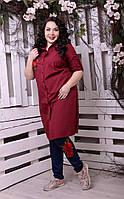 Сорочка-туніка з вишивкою для великих жінок, з 48-82 розмір, фото 1
